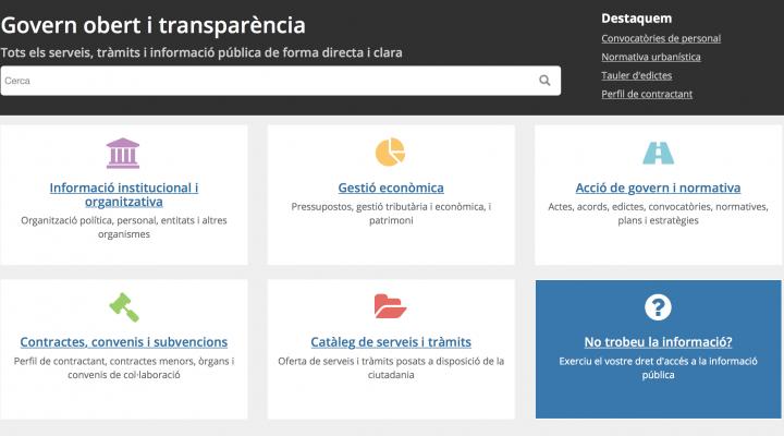 Nous ítems i més automatitzacions als portals de transparència
